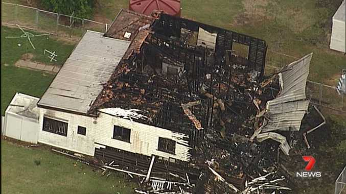 House fire at Wulkuraka. Picture: Channel Seven News