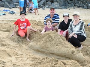 Sandcastles at Scarness Beach
