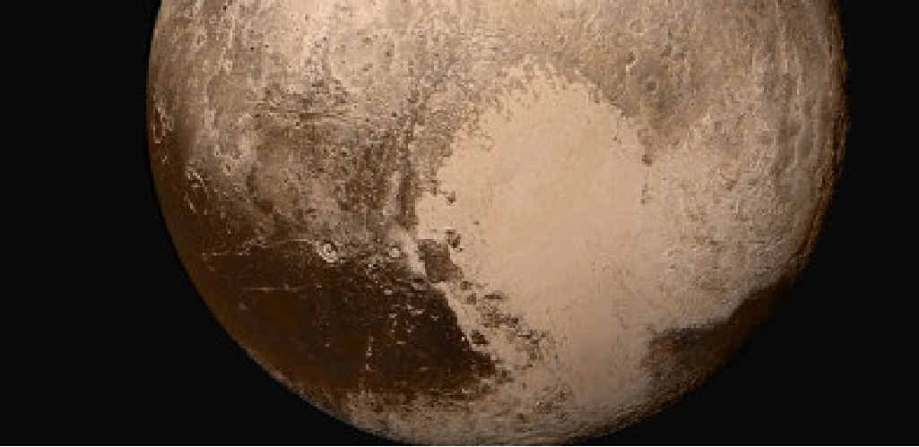 NASA's New Horizons spacecraft sent back photos of Pluto.