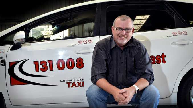 John Lobwein is looking froward to a change of work place after eight years on the Coast with the taxi business, Sunscoast Cabs. Photo Patrick Woods / Sunshine Coast Daily