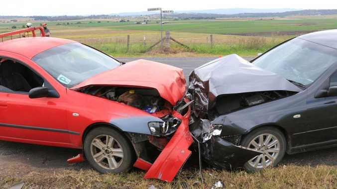 Three people were injured after a head-on crash in Killarney on Saturday.