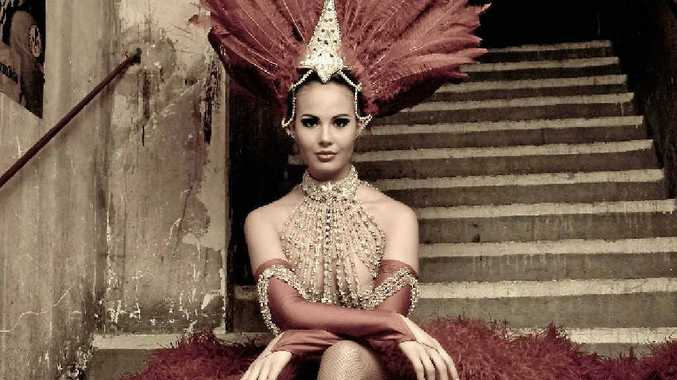 Sarah Brehon backstage at the Moulin Rouge in one of her many costumes.