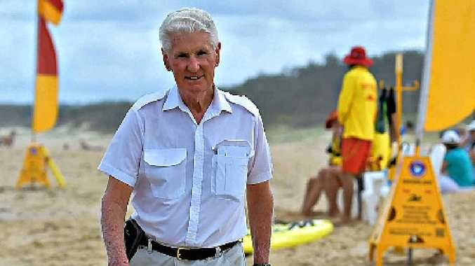 LOVING LIFE: 78-year-old Michael Roch lives in Buderim but heads to Marcoola every day to walk on the beach.