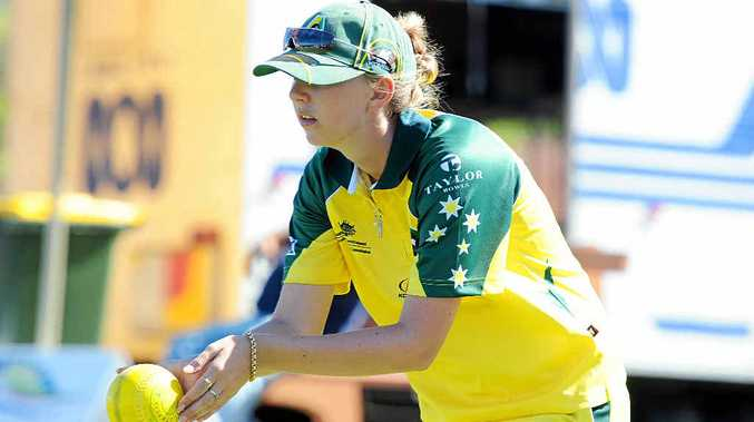 Former Coast lawn bowler Kelsey Cottrell competing for Australia in a Trans Tasman Series.