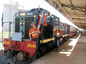 Take an adventure on a 1960's diesel locomotive to Nobby