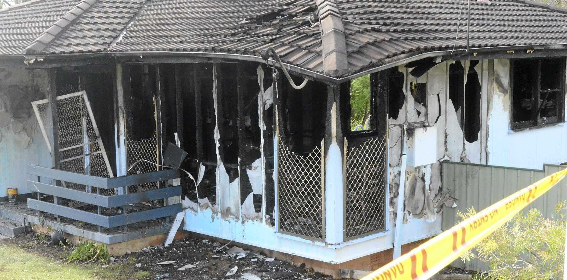 DANGER: A house in Maxwell Avenue, South Grafton, has been gutted by fire overnight.