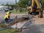 A sinkhole on the corner of Ben St and Adelaide Park Rd, Yeppoon.