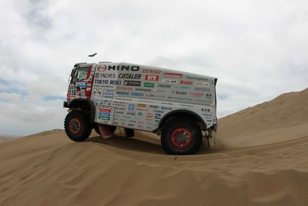 Team Sugawara's Hino 500 Series-based trucks have been extensively tested in preparation for Dakar 2016.