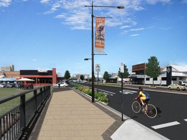 Artist impressions of the Ruthven Street streetscape upgrade project for the Toowoomba Regional Council. / Contributed