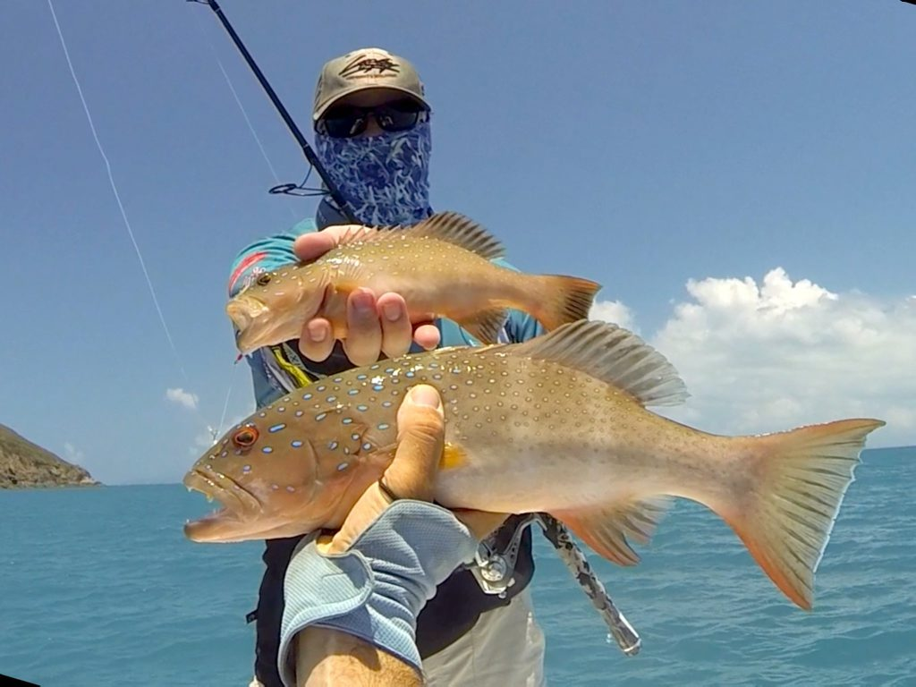 Andrew Allison with a Coral Trout caught while Micro Jigging