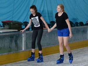 Rocky ice skating