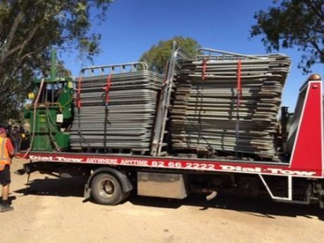 A large haul of equipment including 100 portable cattle panels were located in South Australia after they were stolen from a western Queensland property.