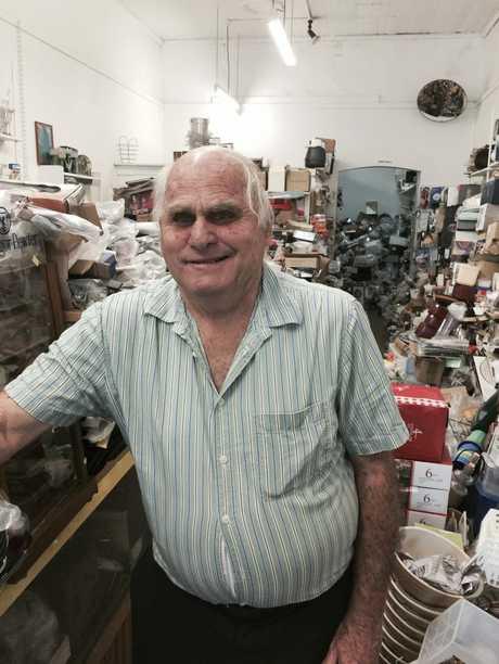 Mel Martin in his Margaret St shop.