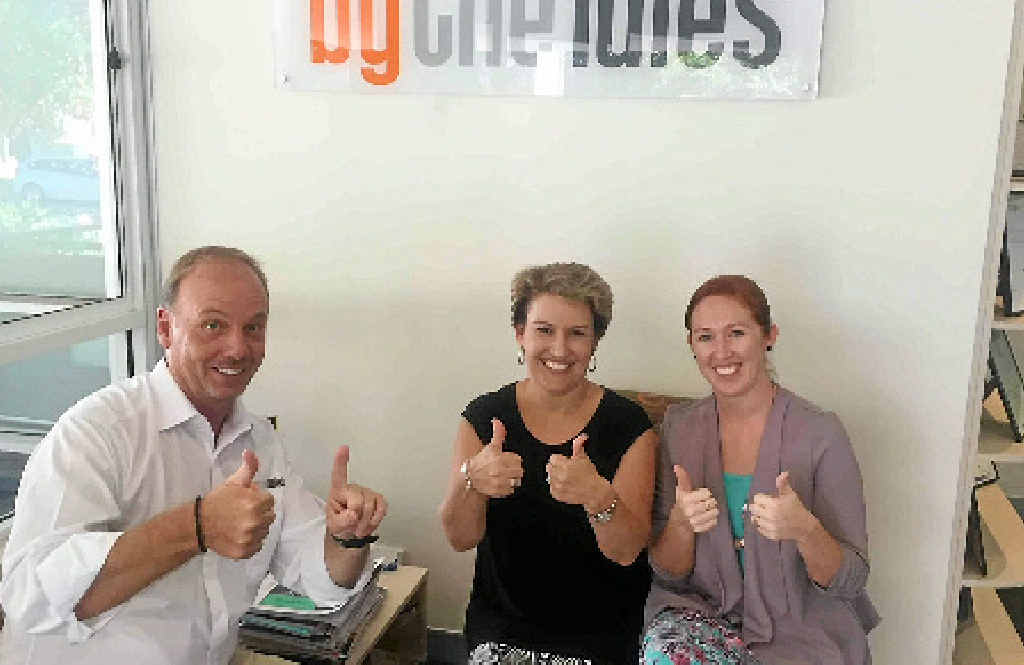 BY THE RULES: The history making team, Chris Collinge, Carolynne Peebles and Angela Treichel.