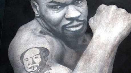 Brenden Abbott's portrait of boxer Mike Tyson.