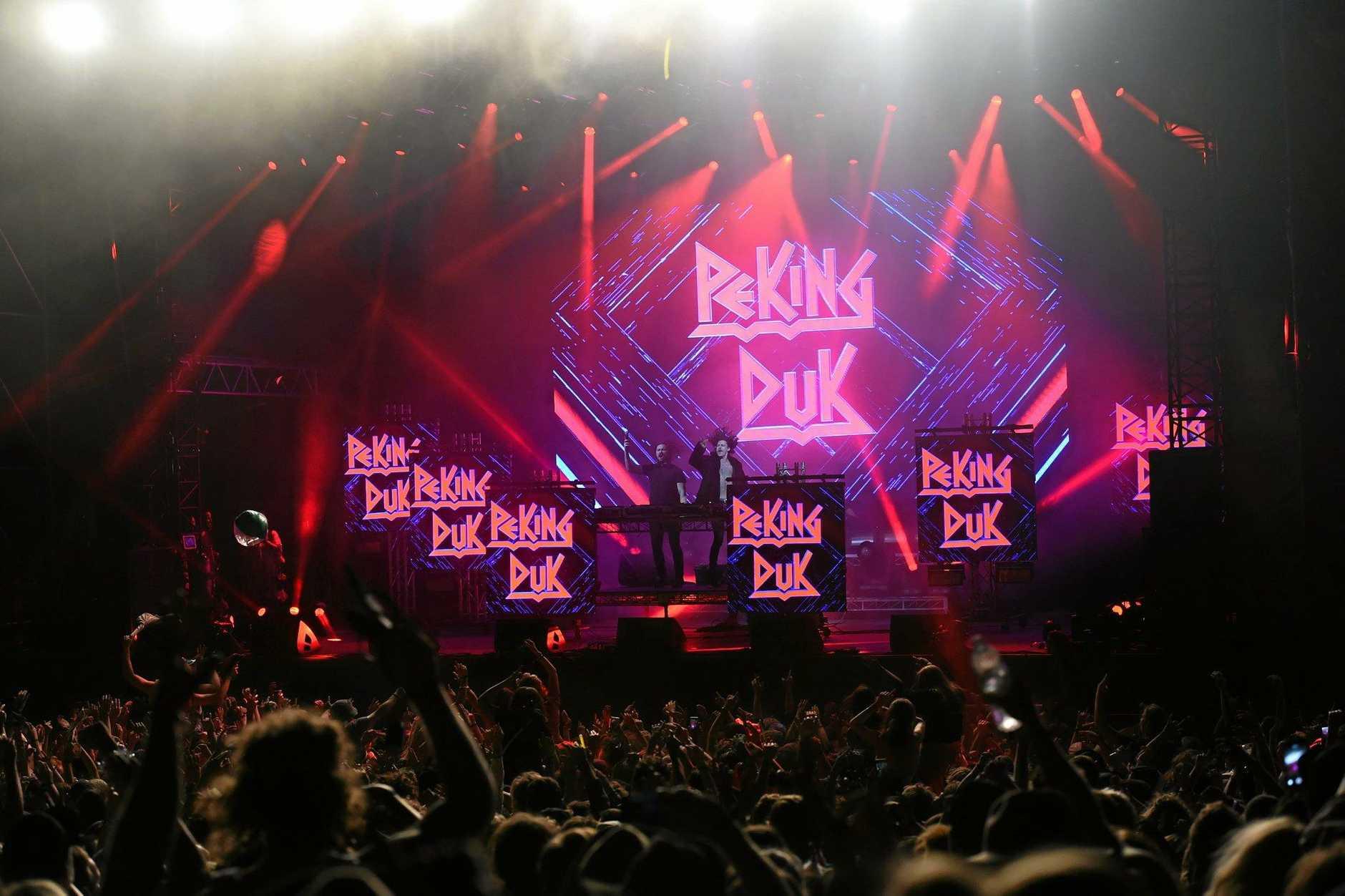 Peking DuK at Falls Festival 2016 in Byron Bay at the Byron Bay Parklands.