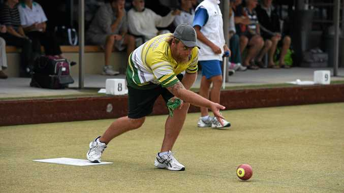 Chris Herden, of South Tamworth, bowling in the Summerland Series at Ballina.