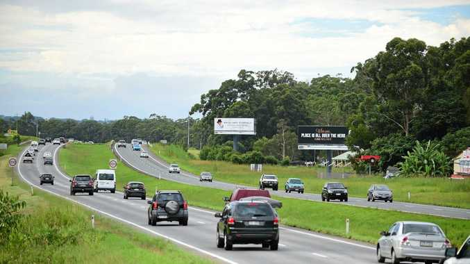 The Bruce Highway has free flowing traffic at Glenview at 3pm, depsite it being the last day of Easter holidays.