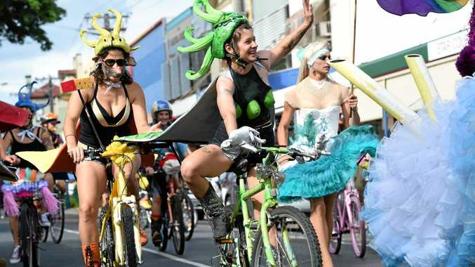 The Tropical Fruits Parade 2015 down Molesworth Street in Lismore. Photo Marc Stapelberg / The Northern Star