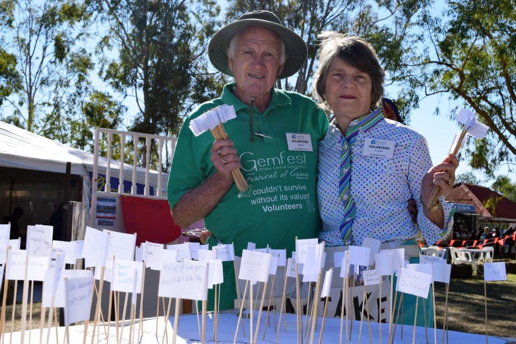 Dennis and Lynda Densley stake their claim at Gemfest 2015.