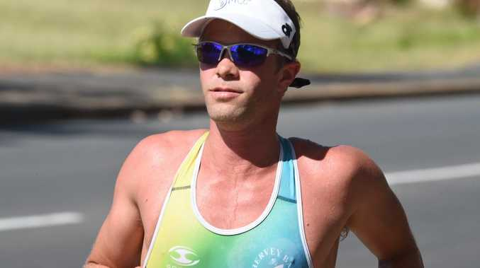 Lars Olsen. Hervey Bay Triathlon Club's final race of 2015: an aquathlon at Ron Beaton Park, Torquay. Photo Matthew McInerney / Fraser Coast Chronicle