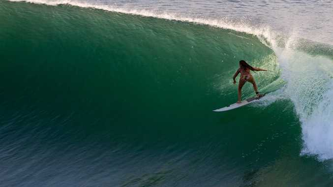 Serena Brooke charging the big ones on the point.