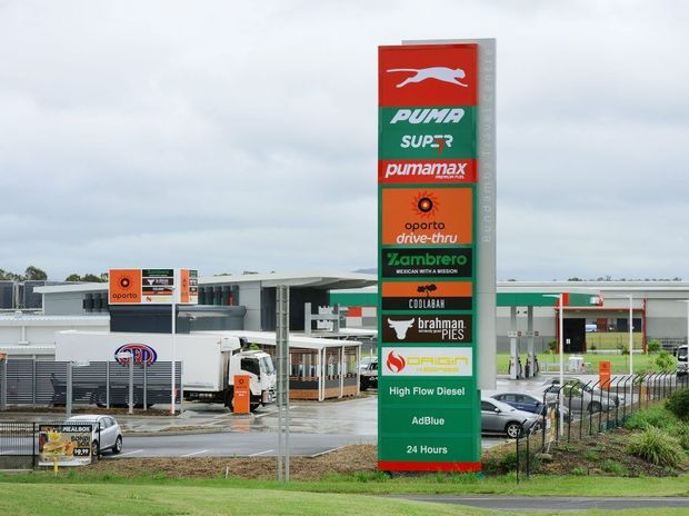 The 24-hour service station complex at Citiswich Business Park at Bundamba off the Warrego Highway.