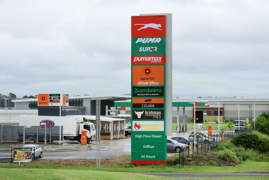 Citiswich Puma Service Station and Travel Centre on the Warrego Highway at Bundamba.