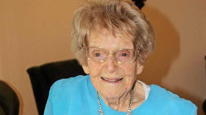 HAPPY BIRTHDAY: Lottie Hurford celebrating her 106th birthday.