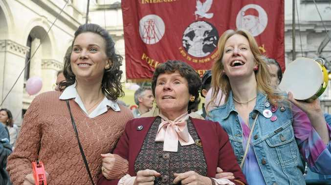 FOR REVIEW AND PREVIEW PURPOSES ONLY. Imelda Staunton, centre, in a scene from the movie Pride. Supplied by BBC Films. Please credit photo to Nicola Dove.