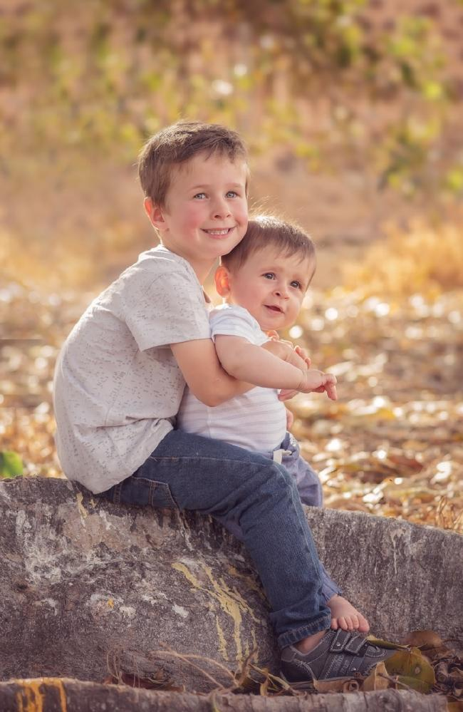 Koda Little, 4, and his brother Hunter Little, 10 months
