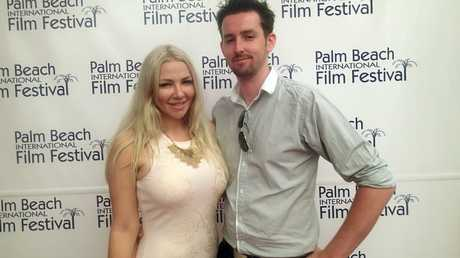 Ashlee Jensen and Terence Young at the 2014 Palm Beach International Film Festival.