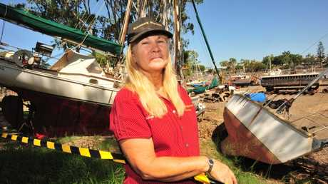Bundaberg Slipways owner Lorraine Price is pleased with the clean-up progress so far but realises that there is still a long way to go before business can return to normal. Photo: Max Fleet/NewsMail