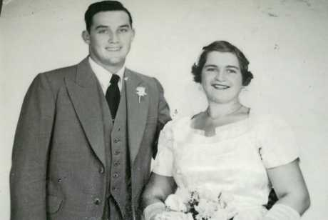 Lloyd and Mary Zerk were married on December 31, 1955 at Mitchell. Photo Contributed