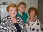 All smiles at a Women with a Wish meeting are (from left) Rosemary Morley, Judith Elliott and Kathy Verner.