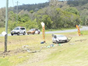 "Car ""somersaulted"" in fatal Pacific Hwy crash at Tyndale"