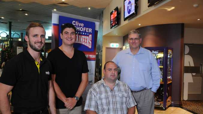 TEAMING UP: Brent Kohn (left), Aron Pantano, Martyn Ford and Anthony Corcoran are on board with the Toowoomba Mountaineers for the 2016 QBL season. Picture: Ben Drewe / The Chronicle