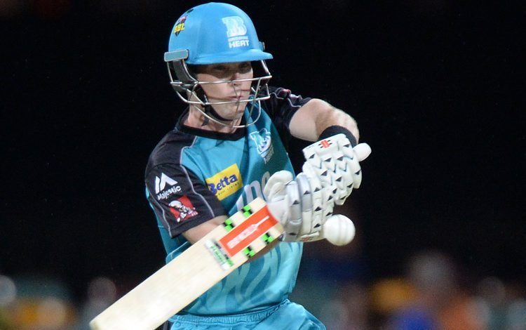 Jimmy Peirson plays a shot during the Big Bash League match between the Brisbane Heat and the Sydney Thunder at The Gabba. Photo: Bradley Kanaris/Getty Images.