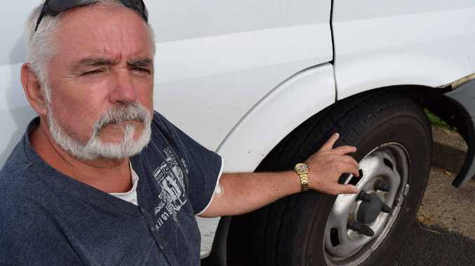TYRE WOES: James Ready is warning motorist to check the age of their tyres. Photo Emma Reid / NewsMail