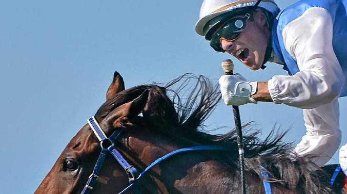 Chris Whiteley celebrates 2YO classic win on Mishani Honcho in 2015.