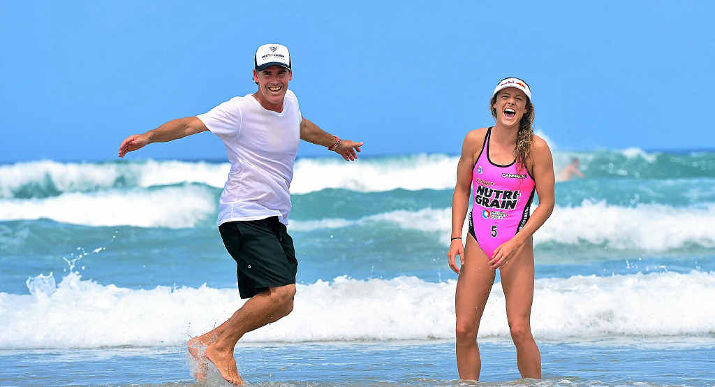 DEJA VU: Jordan and Darren Mercer have a chance to become the first father-daughter pair to win the Nutri-Grain IronMan and IronWoman Series.