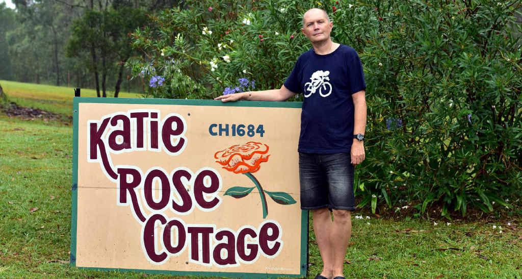 STAFF CONCERN: Ex-nurse manager Gary Cox outside Katie Rose Cottage at Doonan.