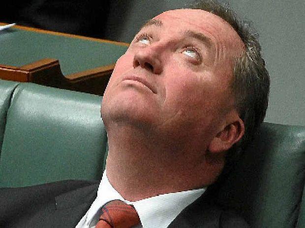 BIDING HIS TIME: Barnaby Joyce.