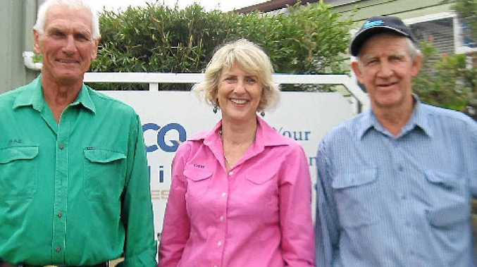 COMMUNITY MINDED: Celebrating the donation to RACQ CareFlight are (from left) Barry and Deb Standing and Joe Hughes.