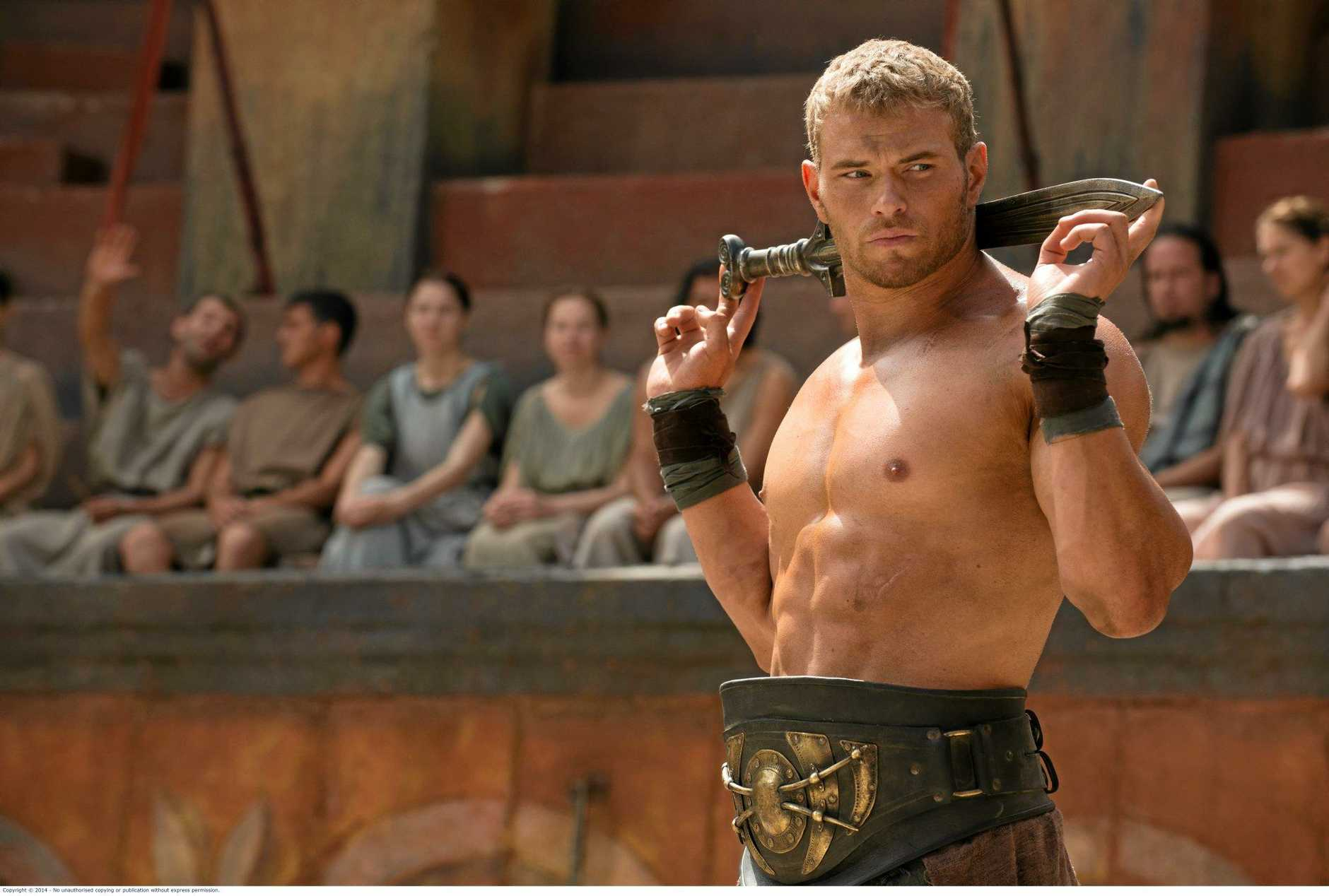 VISITOR: Kellan Lutz in a scene from the movie The Legend of Hercules.
