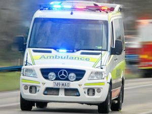 Motorbike rider airlifted with head injuries after car collision
