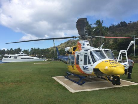 RACQ CQ Rescue in the Whitsundays after two jellyfish stings