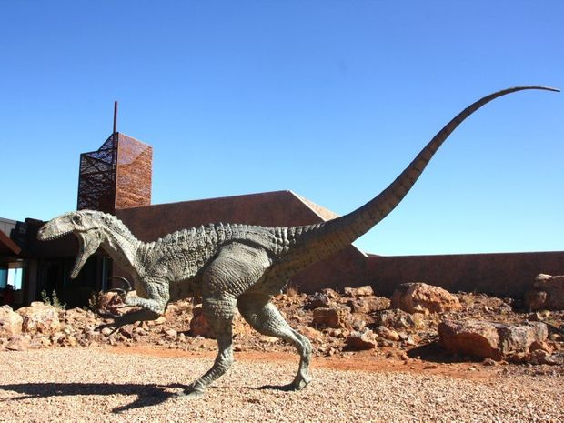 A dinosaur model at Winton. The mayor of Roma wants a similar tourist attraction.