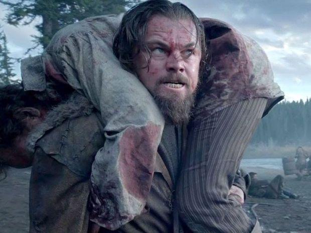 Leonardo DiCaprio in a scene from the movie The Revenant.