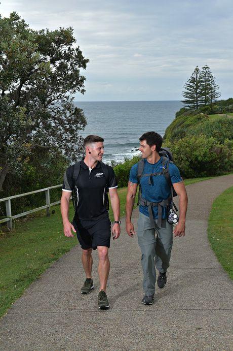 Rhys Greedy and Zac Brady (black shirt) are climbing Mt. Kililamanjaro to raise money for the Nambour General Hospital Paediatric Ward. Photo: Warren Lynam / Sunshine Coast Daily